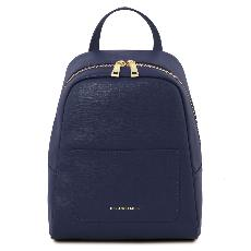Leather Backpack for Women Blue - Tuscany Leather -