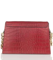 Sac Cuir Croco et Chainette Femme Jaune  - First Lady Firenze -