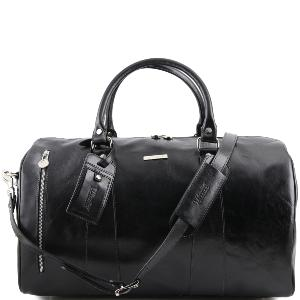 Grand Sac de Voyage Cuir Noir - Tuscany Leather -