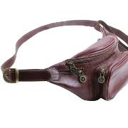 SOLDES Sac Banane Cuir Homme Marron - Tuscany Leather -