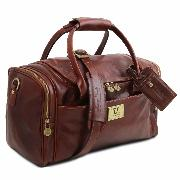 Sac de Voyage Cuir Avion Camel  -Tuscany Leather-
