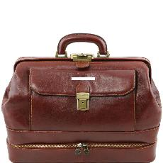 Mallette Médecin Cuir Double Fond - Tuscany Leather -