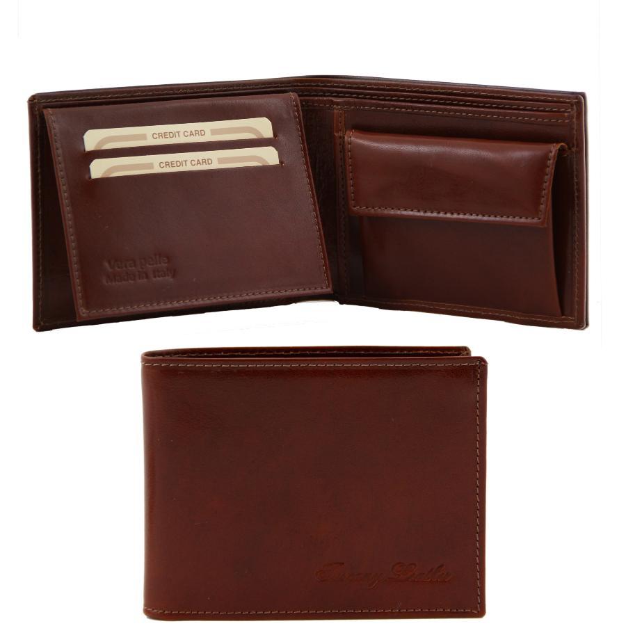 gamme exceptionnelle de styles et de couleurs Vente de liquidation 2019 remise spéciale de Portefeuille/Porte Monnaie Cuir Homme Marron -Tuscany Leather-