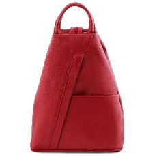 Sac à Dos Cuir Souple Femme Rouge - Tuscany Leather -