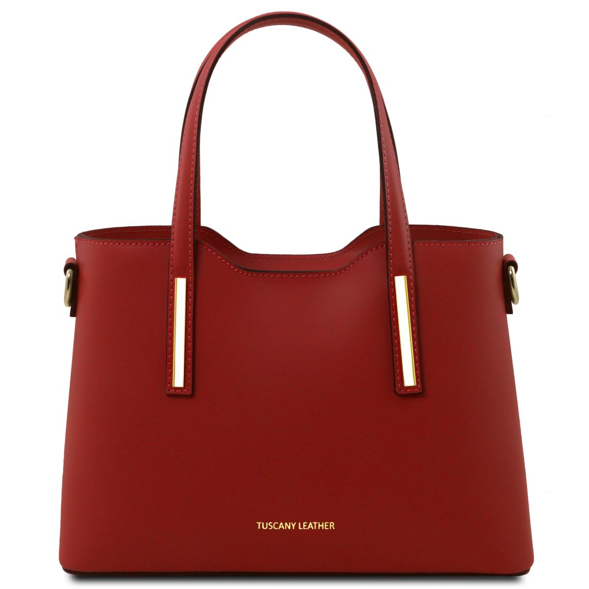 Sac à Main Cuir Femme Rouge - Tuscany Leather -