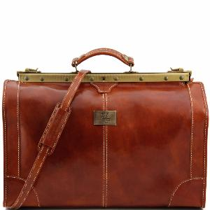 Grand Sac Voyage Cuir Diligence Vintage Miel -Tuscany Leather-