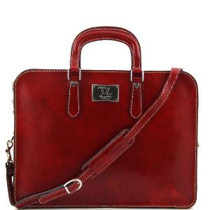 Serviette Cuir Femme Alba Rouge  -Tuscany Leather-