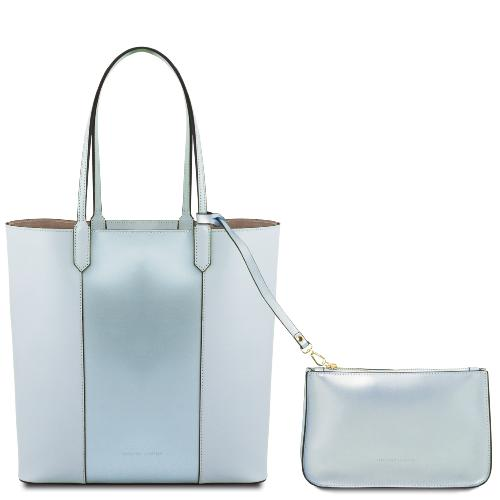 Sac Epaule Cuir Metallisé Femme - Tuscany Leather -