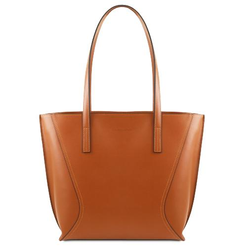 Sac Shopping Cuir Femme Marron - Tuscany Leather -