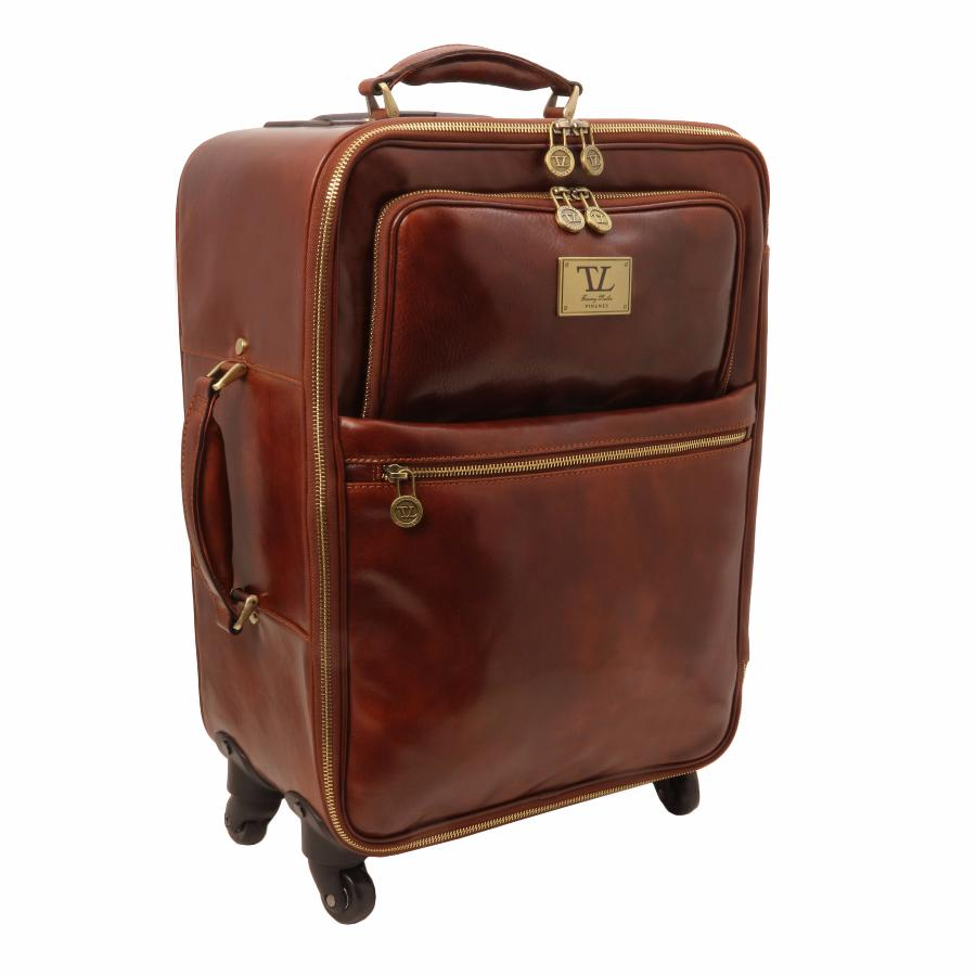 Valise Cuir Cabine Avion 4 Roulettes - Tuscany