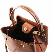 Sac Bandoulière Cuir Femme Camel - Tuscany Leather -