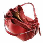 Grand Sac Besace Cuir Femme Noir - Tuscany leather -