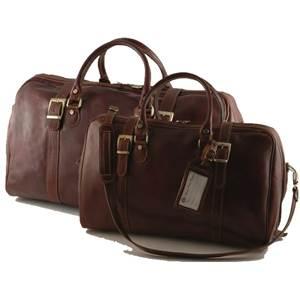 Tuscany Leather - Ensemble de sacs de voyage en cuir - Marron foncé WYScl0