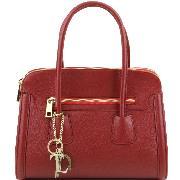 Sac à Main Femme Cuir Rouge - Tuscany Leather -