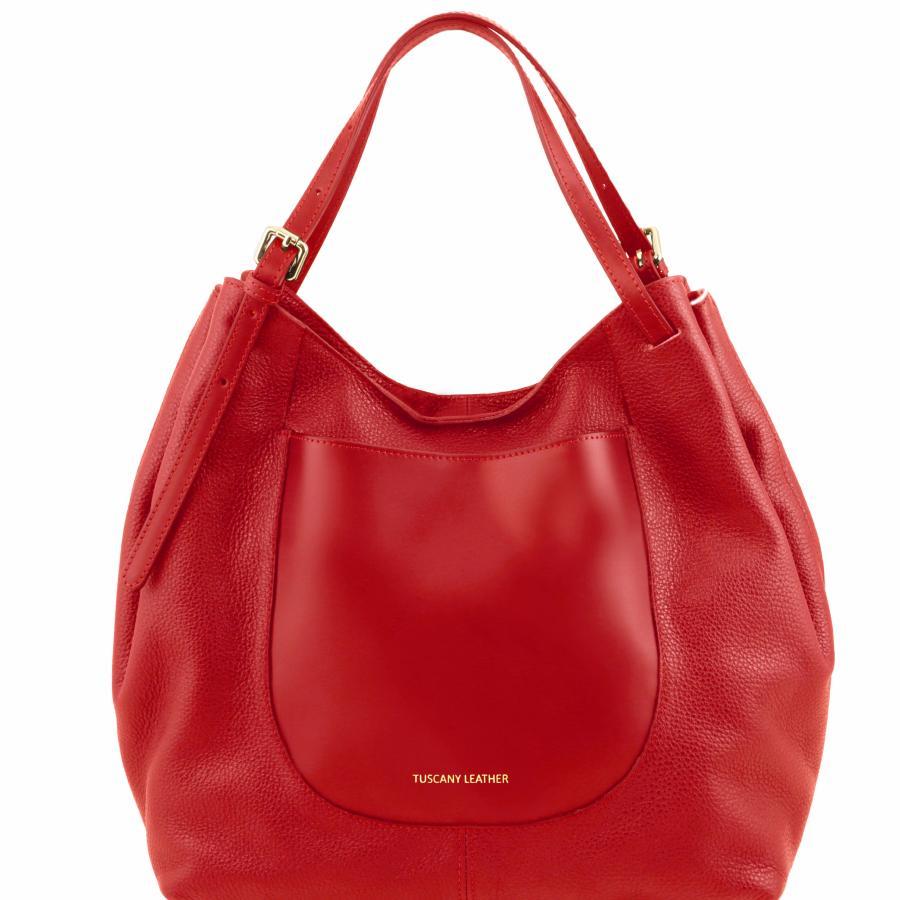 grand sac fourre tout epaule cuir souple femme tuscany leather. Black Bedroom Furniture Sets. Home Design Ideas