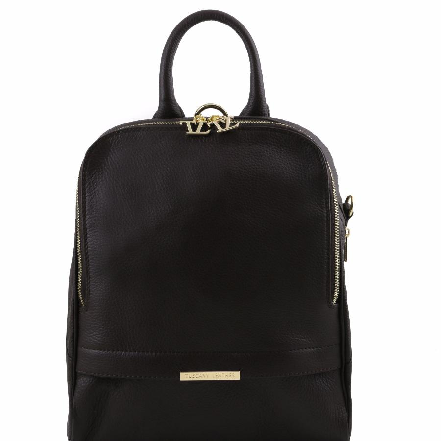 Cuir Tuscany Noir Transformable Femme Dos À Leather Sac WDYeEIb29H