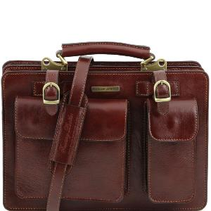 a5bc4ffda3e Sac Cartable Cuir Femme Marron - Tuscany Leather -