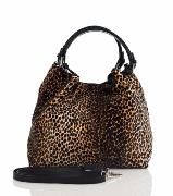 Sac Cuir Femme Léopard Marron -First Lady Firenze -