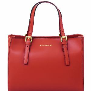 Nouvelle Collection Sac Cuir Rouge Femme  -Tuscany Leather-