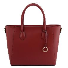 Solde Grand Sac Cabas Cuir Femme Rouge - Tuscany Leather -