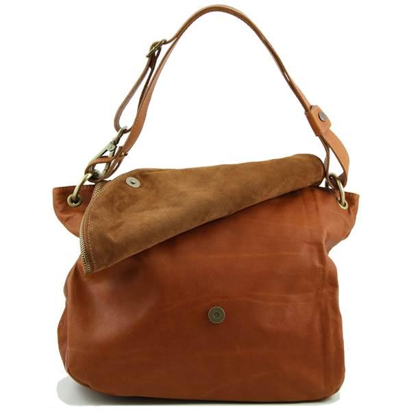 Sac à Main Bandoulière Femme De Marque : Grand sac cuir bandouli?re besace pour femme tuscany leather