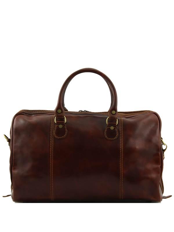 Tuscany Leather Paris Sac de voyage en cuir Marron foncé dvie9u