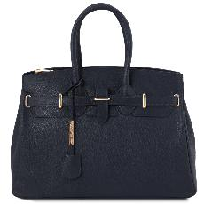Sac Cuir Grainé Femme avec Sangle   - Tuscany Leather -