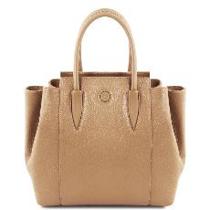 Solde Sac à Main Cuir Souple Femme Beige - Tuscany Leather -