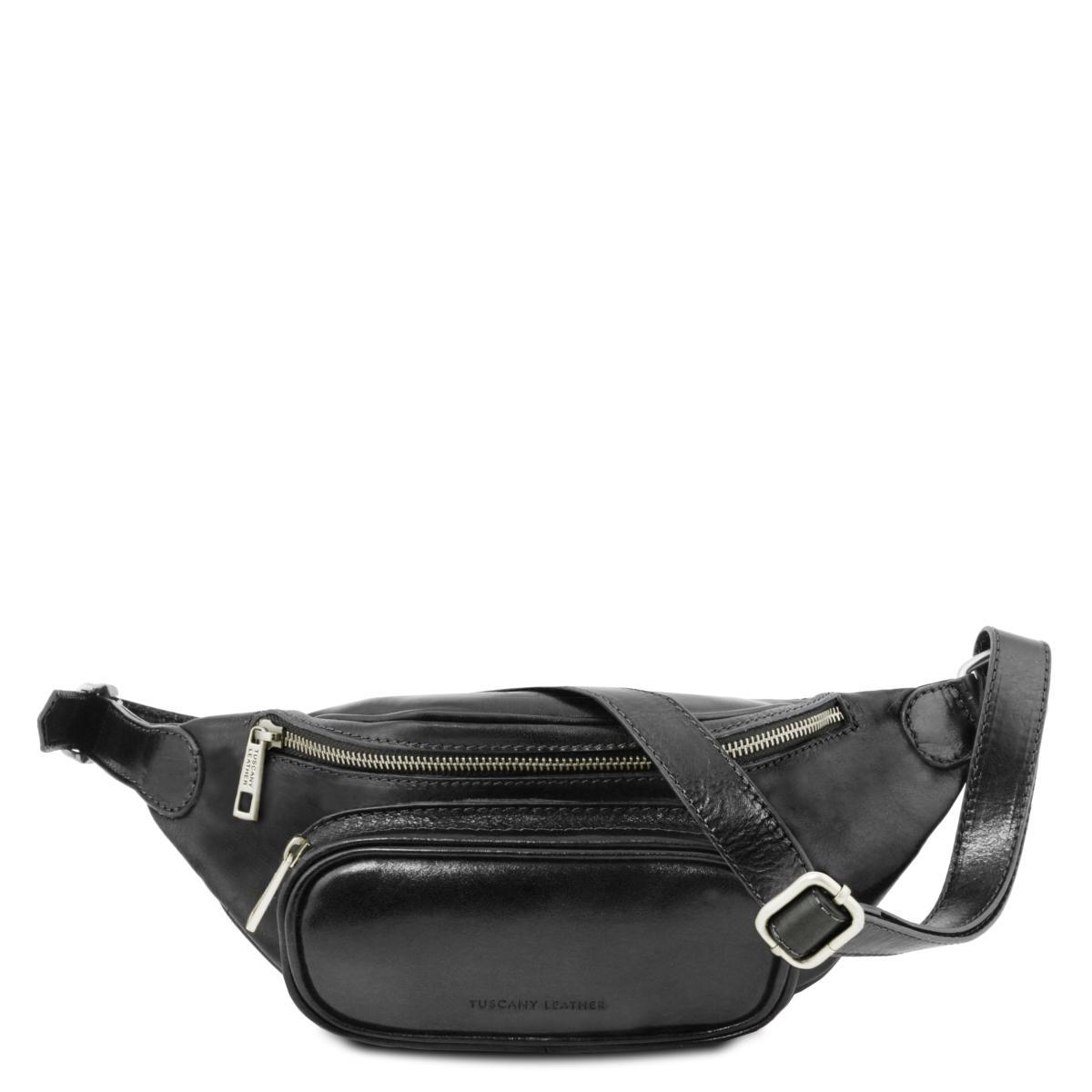 Sac Banane Cuir Homme Noir - Tuscany Leather -