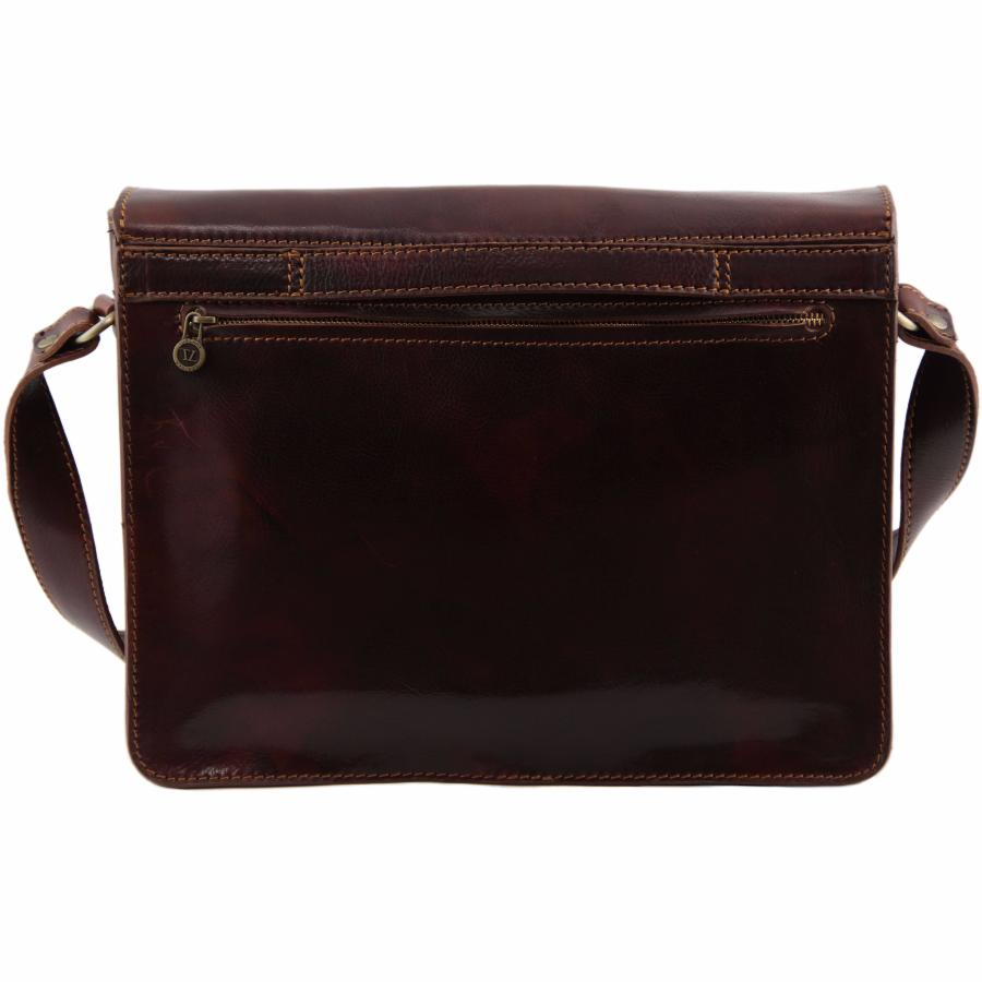 Sac bandouli re cuir porte ordinateur homme tuscany leather for Porte ordinateur