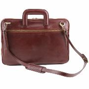 Sacoche Cuir 2 Compartiments Marron  - Tuscany Leather -