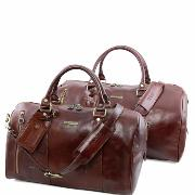 Ensemble de Voyage Cuir Marron - Tuscany Leather -