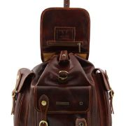 Sac a Dos Cuir Vintage Homme Femme Marron -Tuscany Leather-