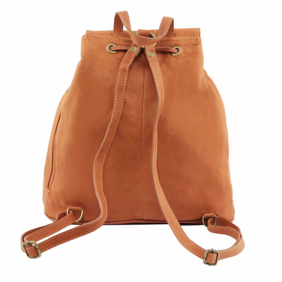 d32016ed8a Sac à Dos Cuir Grand modèle Beige - Tuscany Leather -