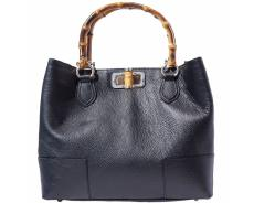 Sac à Main Cuir Anses Bambou - Florence Leather -