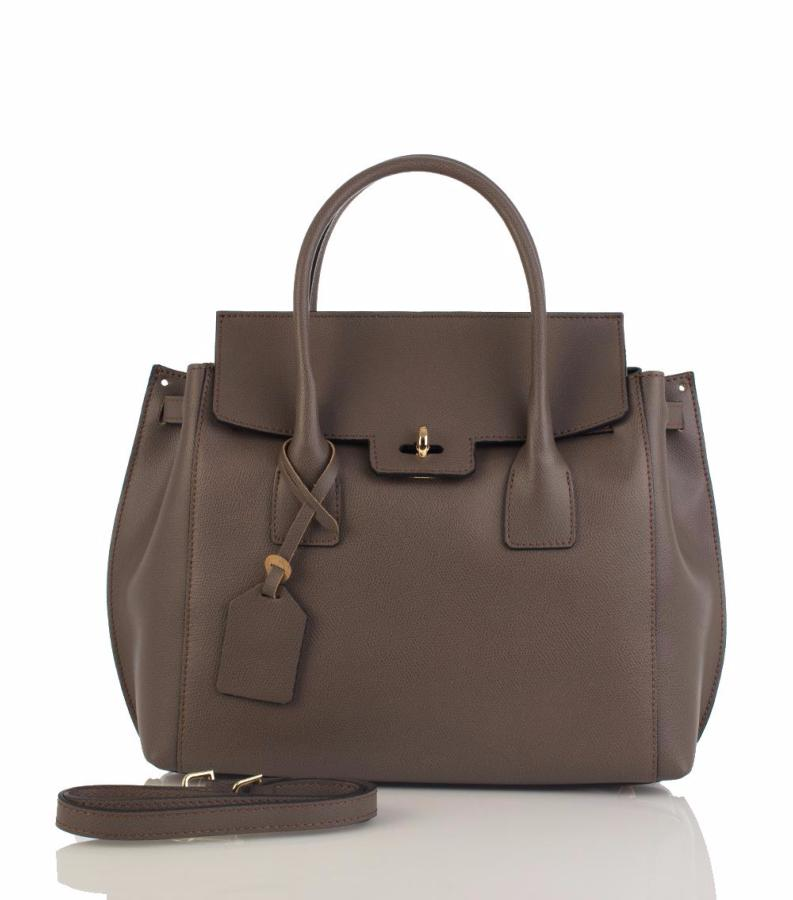 f2da2fd214 Sac Cuir Femme Gris Taupe Nouvelle Collection - First Lady Firenze -