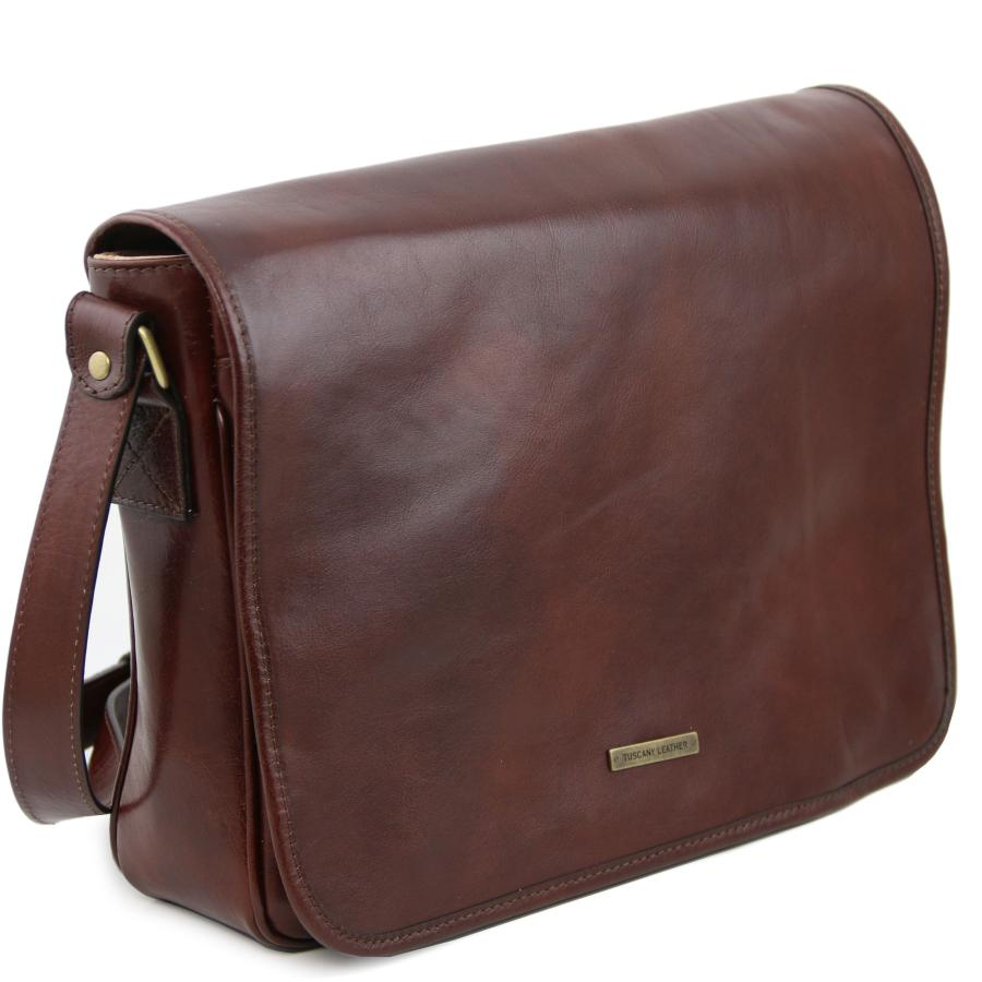 Grand Sac Bandoulière Style Cartable : Sac besace vintage bandoui?re cuir homme tuscany leather