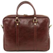 Sac Business Cuir Bandoulière Marron  - Tuscany Leather -