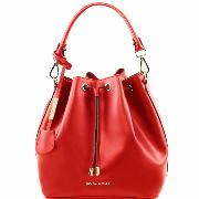 Nouvelle Collection Sac Seau Cuir Femme Rouge -Tuscany Leather -