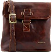 Sac Bandoulière Cuir Homme Marron -Tuscany Leather-