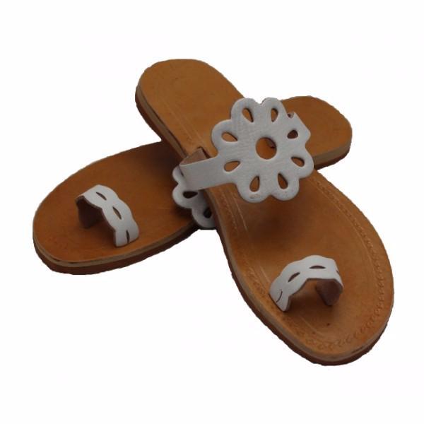 chaussures sandales cuir artisanal fleur. Black Bedroom Furniture Sets. Home Design Ideas
