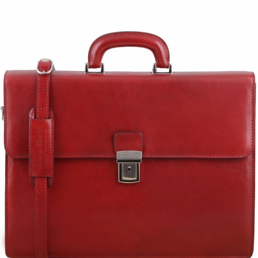 prix compétitif 94799 4d335 Cartable Cuir Rouge 2 compartiments - Tuscany Leather -