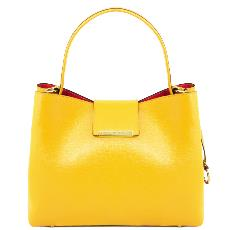 Sac Cuir Femme Jaune - Tuscany Leather -