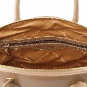 Sac Cuir Mode Cabas Taupe Femme -Tuscany Leather-