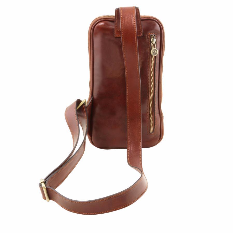 ab3dd05073 Sacoche Epaule Cuir Homme Marron - Tuscany Leather -