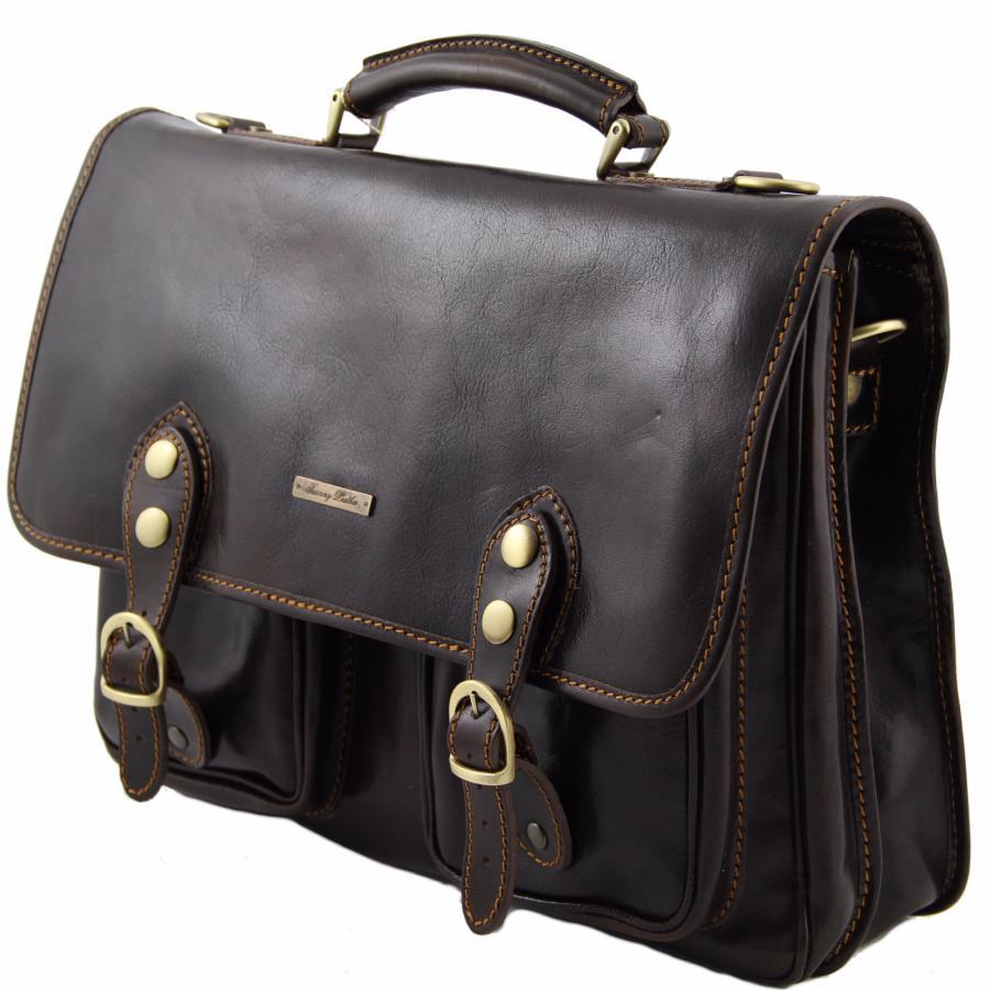 Borbonese Borse Da Lavoro : Sacoche de travail cuir ? compartiments tuscany leather