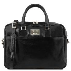 Cartable Cuir Porte-ordinateur Noir - Tuscany Leather -