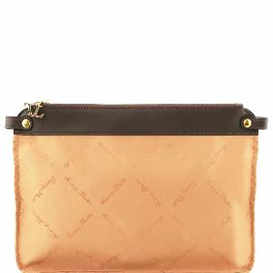 Pochette Intérieure Amovible Sac Femme Beige-Tuscany Leather-