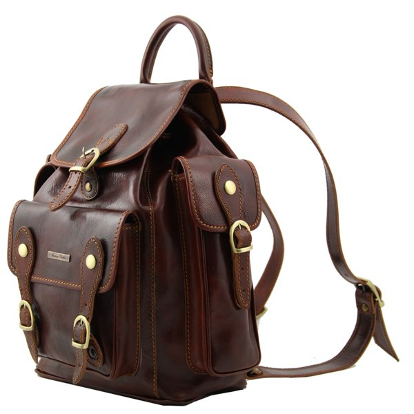 ever popular clearance sale best value Sac a Dos Cuir Vintage Marron Pechino-Tuscany Leather-