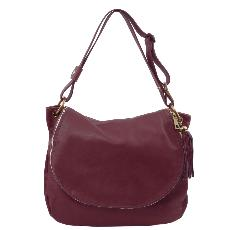 Solde Grand Sac Cuir Bandoulière Besace Femme - Tuscany Leather -